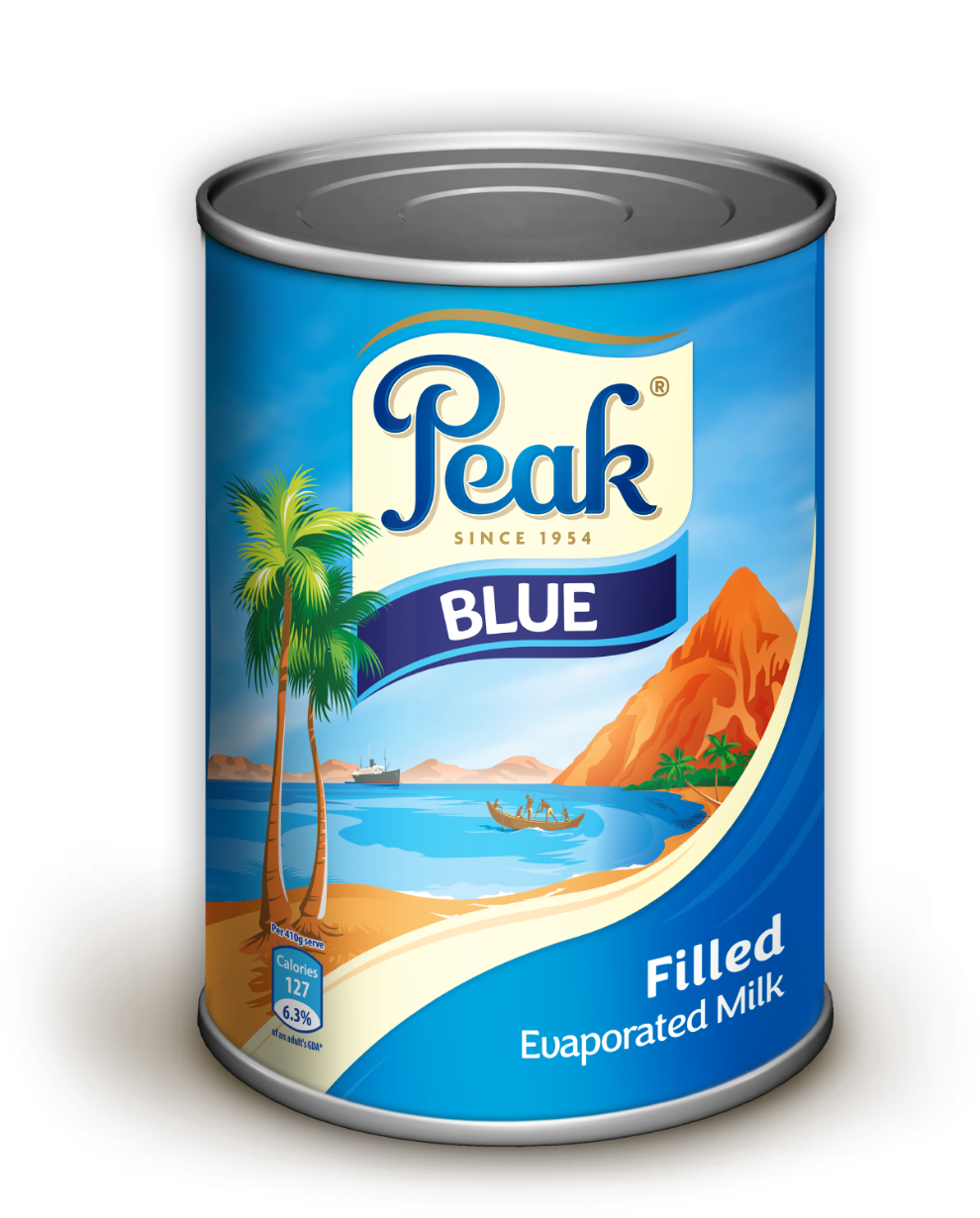 Peak Blue Filled Evaporated Milk Tin