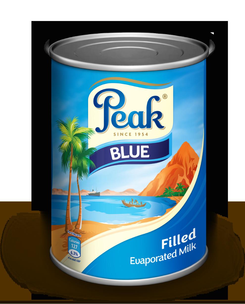 Peak Blue Filled Evaporated Milk Tin