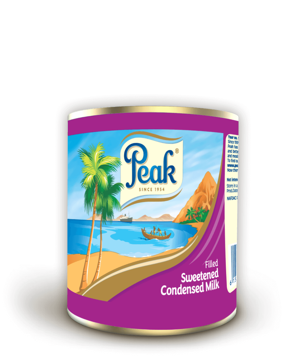 Peak Filled Sweetened Condensed Milk Tin
