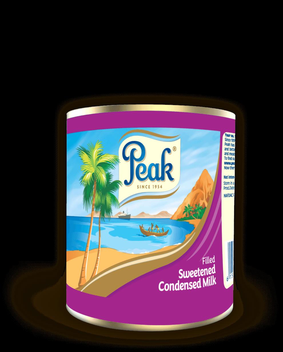 Peak Filled Sweetened Condensed Milk Tin