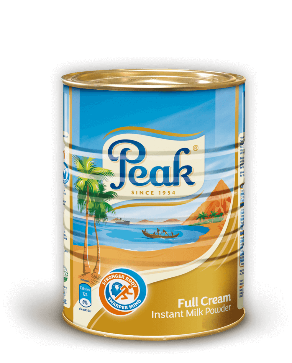 Peak Full Cream Instant Milk Powder Tin