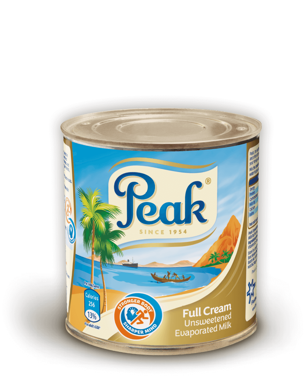 Peak Full Cream Unsweetened Evaporated Milk Tin