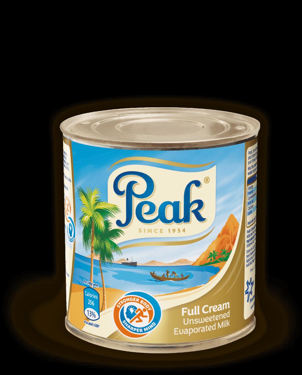 Peak Full Cream Unsweetened Evaporated Milk Tin