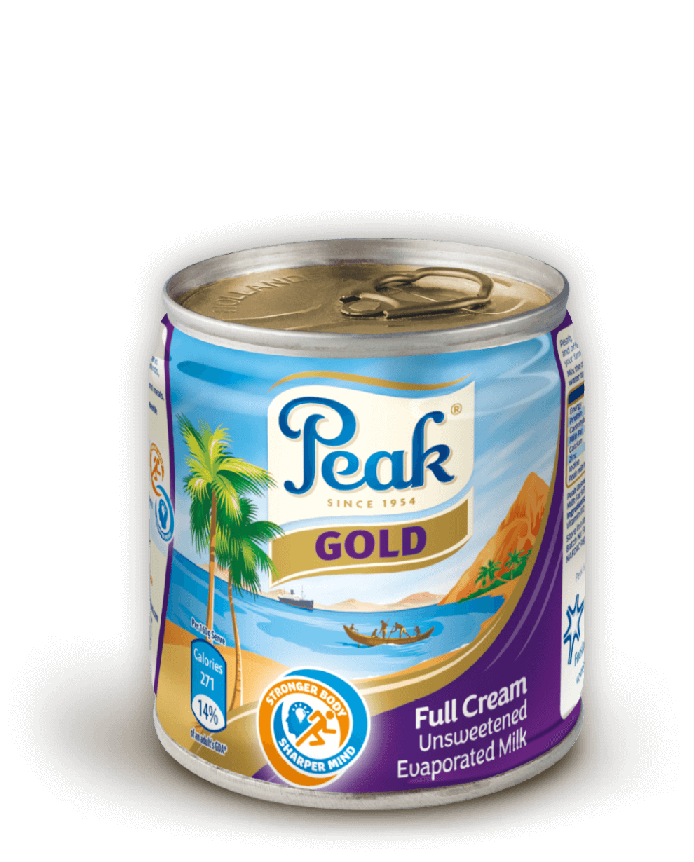 Peak Gold Full Cream Unsweetened Evaporated Milk Tin