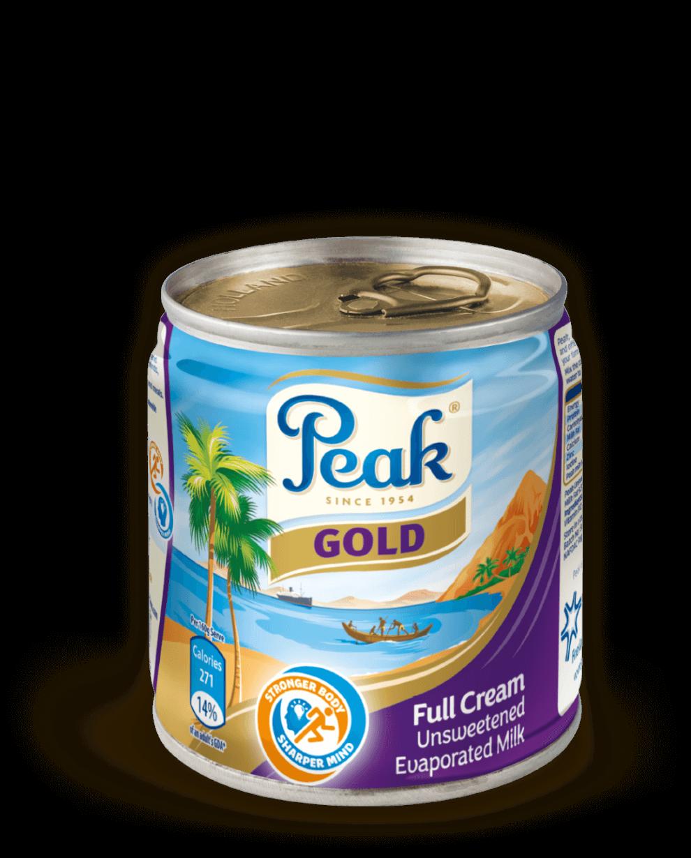 Peak Gold Full Cream Unsweetened Evaporated Milk Tin